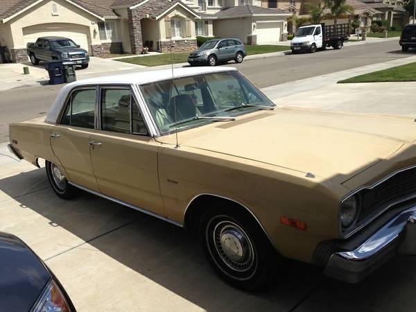 1974 Dodge Dart 4 Door For Sale In Tracy Ca