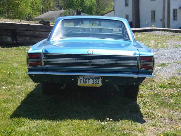1968 Dodge Dart 2 Door For Sale in Western Maryland