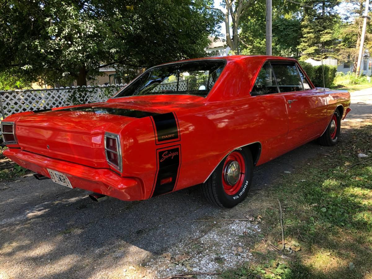 1969 Dodge Dart Swinger 4spd Manual For Sale in Paxton, IL